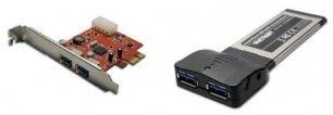 Карта расширения PCIE и адаптер ExpressCard USB 3.0