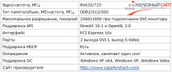 Спецификации видеокарты Sapphire HD 3650