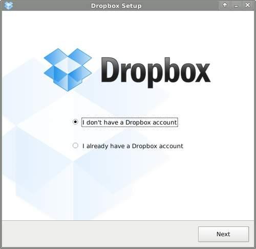 Запуск клиента Dropbox