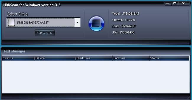 Программа HDDScan