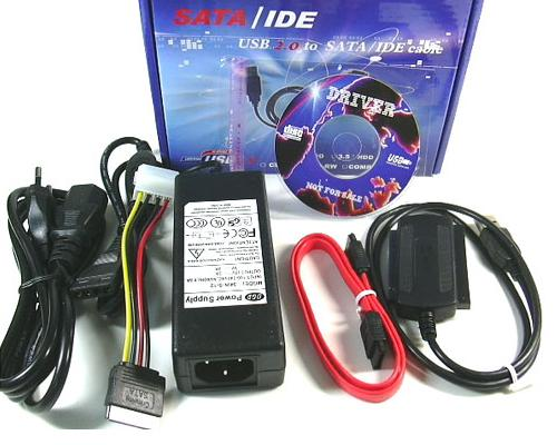 """Кабель-переходник USB - (SATA + IDE) для SATA/IDE HDD (CDROM) 2.5 """", 3.5 """".  Имеется внешний блок питания..."""