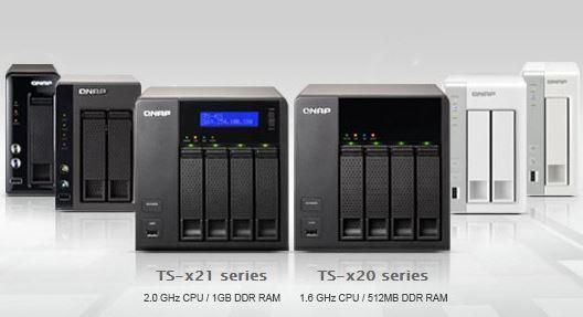 Новые модели сетевых хранилищ QNAP TS-x20 и TS-x21