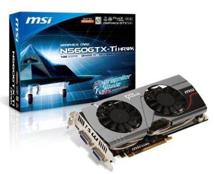 Видеокарта MSI GeForce GTX 560 Ti Hawk