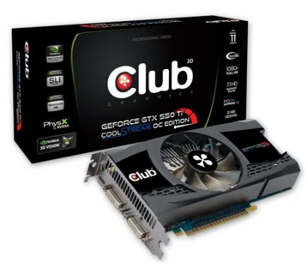Видеокарта Club 3D GeForce GTX 550 Ti 2 Гб GDDR5