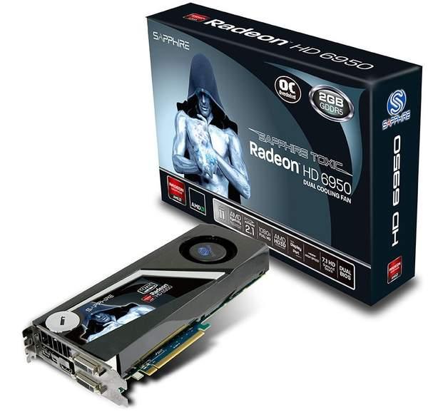 Видеокарта Sapphire HD 6950 Toxic Edition