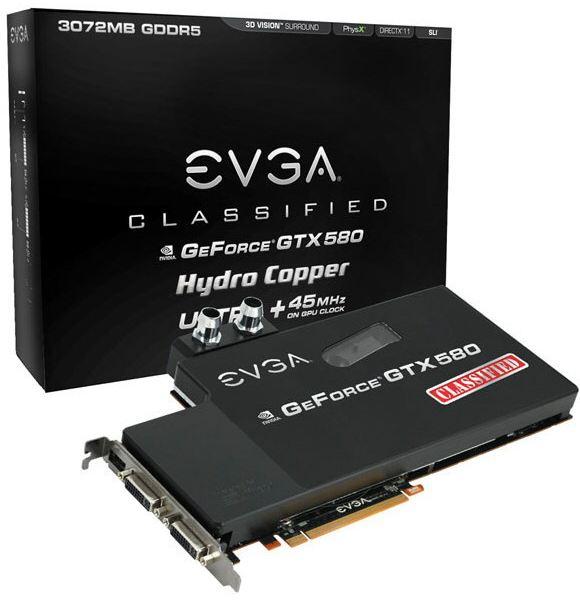 Видеокарта EVGA GTX 580 Classified Ultra Hydro Copper