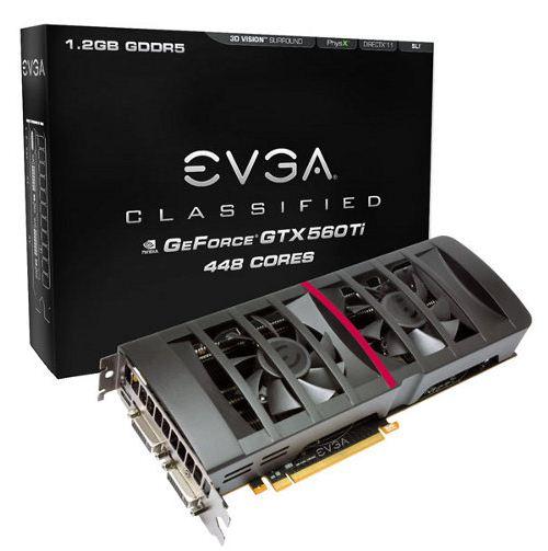 Видеокарта EVGA GTX 560 Ti 448 Cores Classified