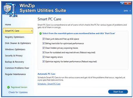 Пакет утилит WinZip System Utilities Suite