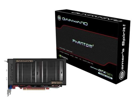 Видеокарта Gainward GeForce GTX 560 Ti несет на борту 2 Гб GDDR5