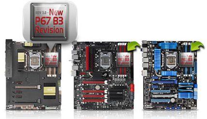 Материнские платы Asus на наборах микросхем Intel 6 степпинга B3