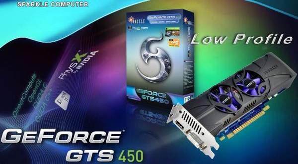 Низкопрофильная GeForce GTS 450 от Sparkle