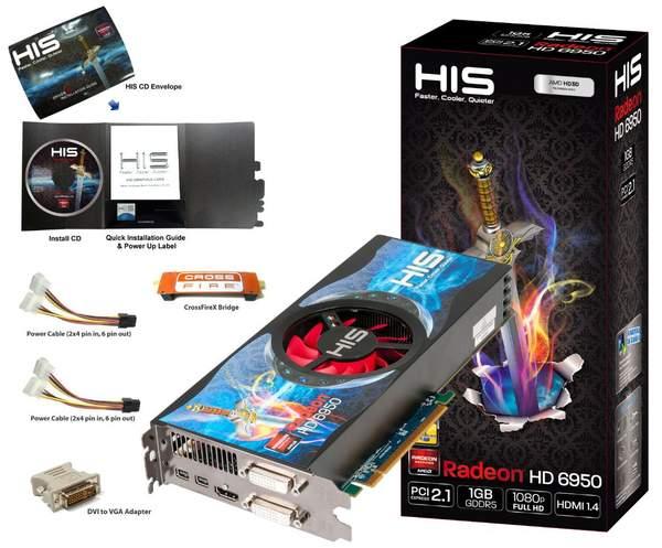 HIS представили Radeon HD 6950 с 1 Гб