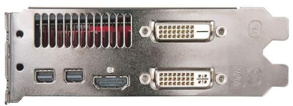 Порты видеокарты HIS Radeon HD 6950 с 1 Гб