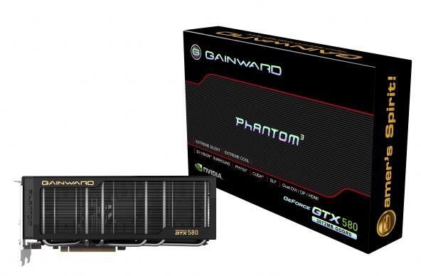 Новая видеокарта Gainward GeForce GTX 580 Phantom