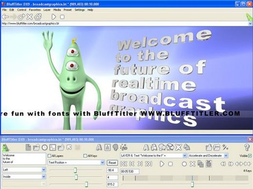Создавать титры можно при помощи BluffTitler
