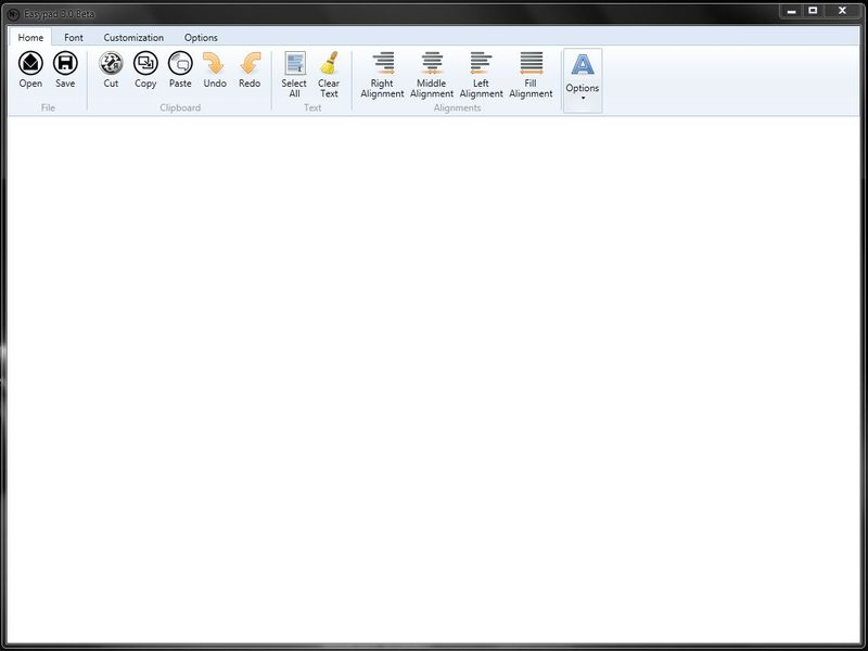 Easypad - текстовый редактор с интерфейсом Ribbon