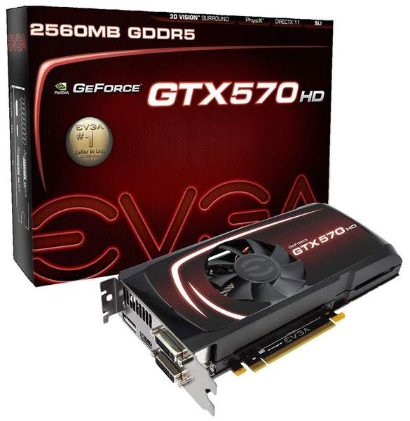 Видеокарта EVGA GeForce GTX 570 2.5 Гб GDDR5