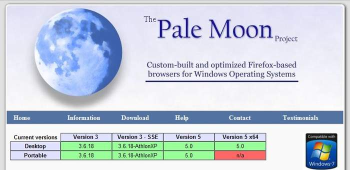 Обновилась программа Pale Moon