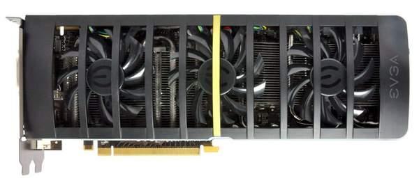 Кулер видеокарты GeForce GTX 460 2WIN имеет три вентилятора