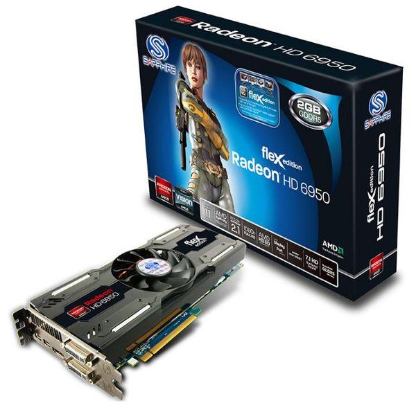 Новая видеокарта Sapphire Radeon HD 6950 FleX Edition