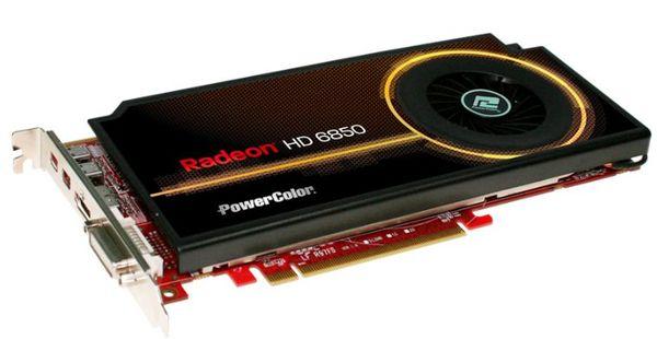 Кулер новой видеокарты PowerColor HD 6850 занимает всего один слот