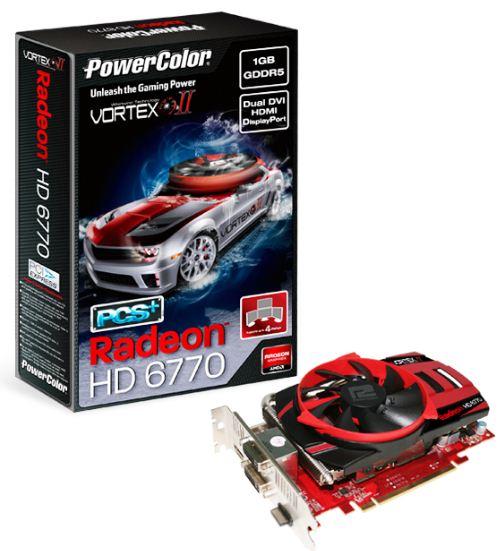 Новая видеокарта PowerColor HD 6770 PCS+ Vortex II