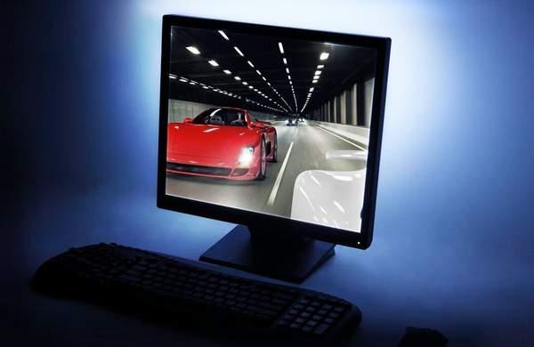 LED подсветка монитора от Antec