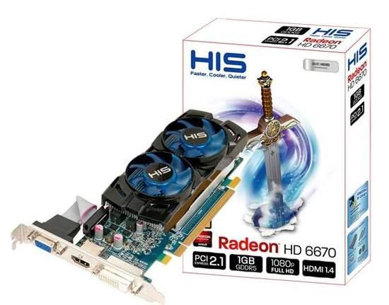 Видеокарта HIS Radeon HD 6670