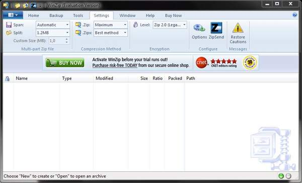 Новая версия архиватора WinZip
