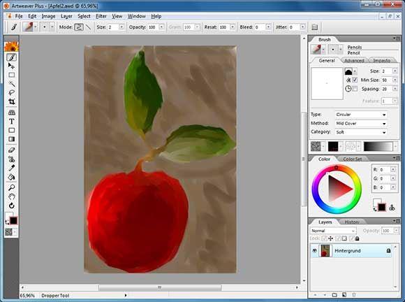 Графический редактор Artweaver 3.0
