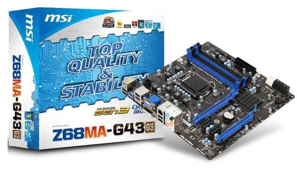 Материнская плата MSI Z68MA-G43