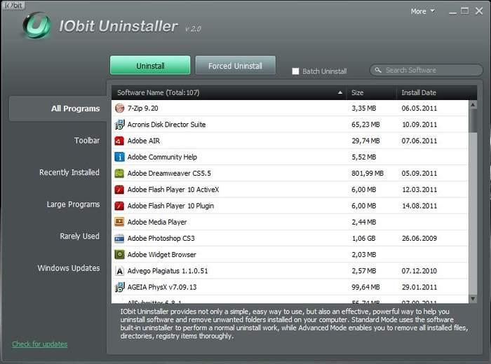 Вышла новая версия программы IObit Unistaller