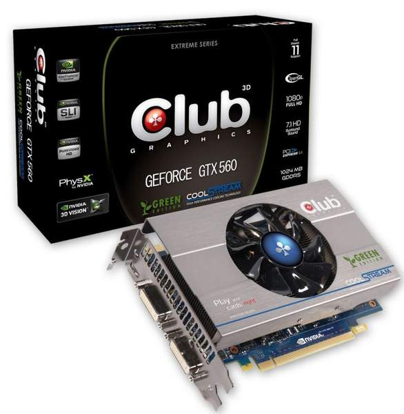 Видеокарта Club 3D GTX 560Ti Green Edition