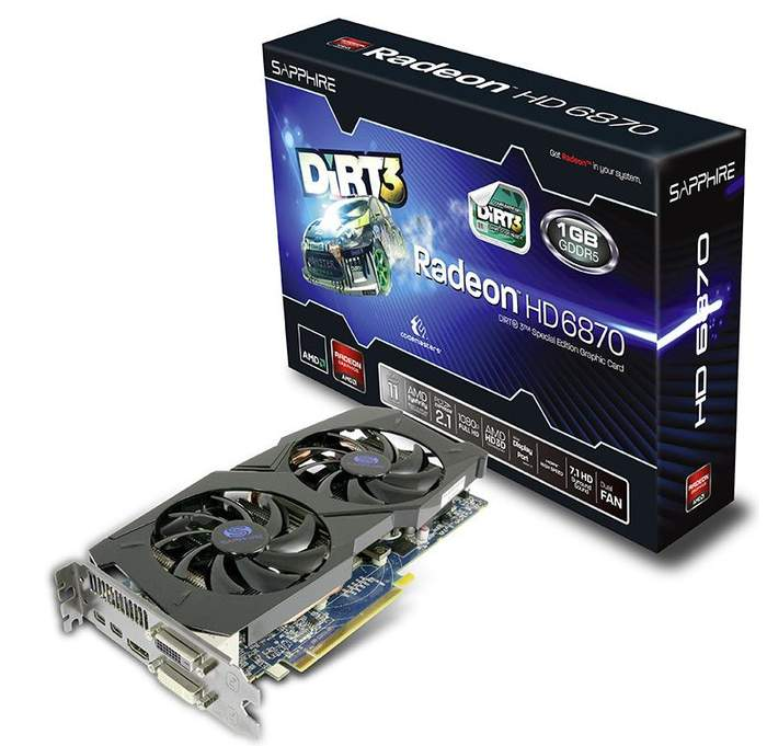 Видеокарта Sapphire Radeon HD 6870 1 Гб Dirt 3 Edition