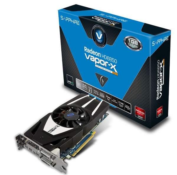 Видеокарта Sapphire Radeon HD 6850 Vapor-X Edition