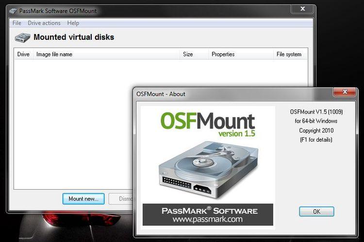 Программа OSFMount