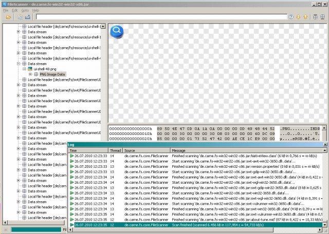 Программа FileScanner
