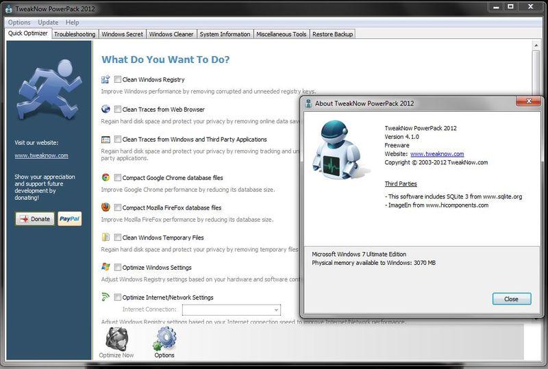 Новая версия TweakNow PowerPack 2012