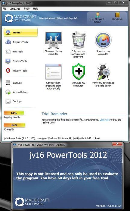 Оптимизация системы с помощью jv16 PowerTools 2012