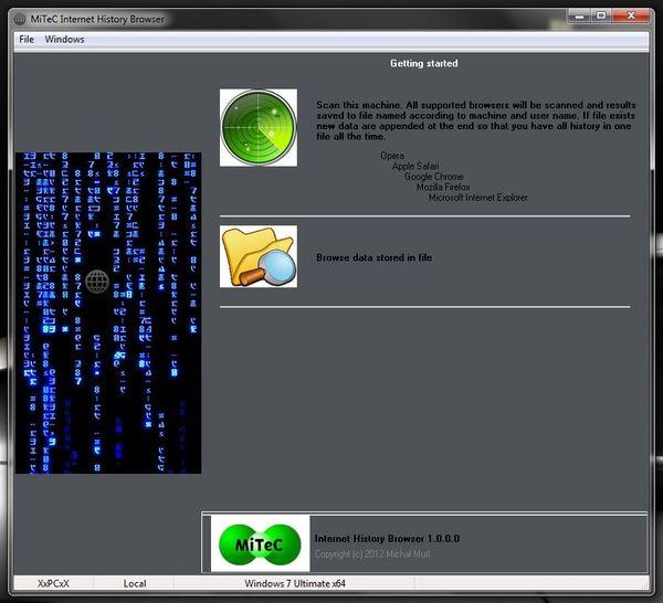 Приложение MiTeC Internet History Browser