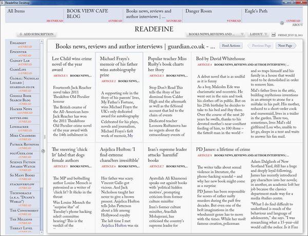 Readefine - удобный RSS-клиент