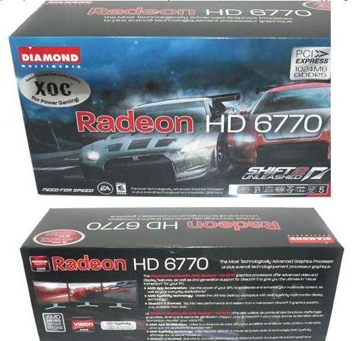 Упаковка Diamond HD 6770 XOC