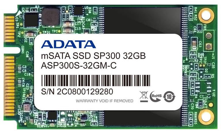 ADATA представили диски SSD mSATA