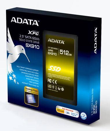ADATA выпускают накопитель XPG SX910