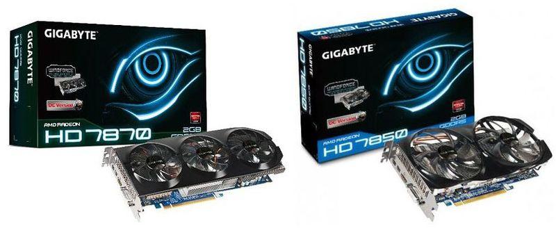 Видеокарты Gigabyte Radeon HD 7800