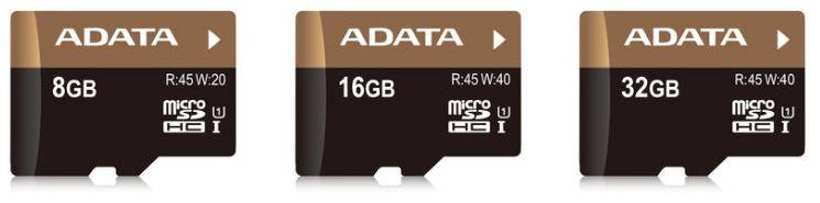 Серия карт памяти ADATA UHS-I U1
