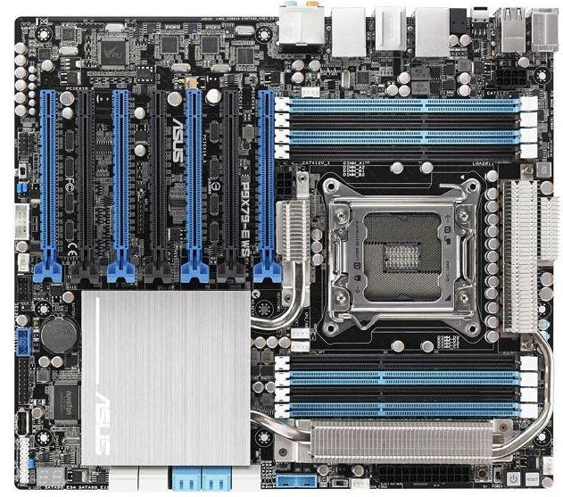 Материнская плата P9X79-E WS от Asus имеет 4 графических слота x16