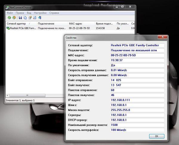 NetConnectChoose - это бесплатный софт для просмотра интернет подключений