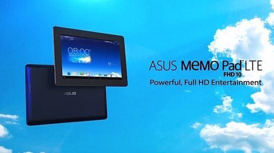 Планшет MeMo Pad FHD 10 LTE от Asus: стали известны спецификации