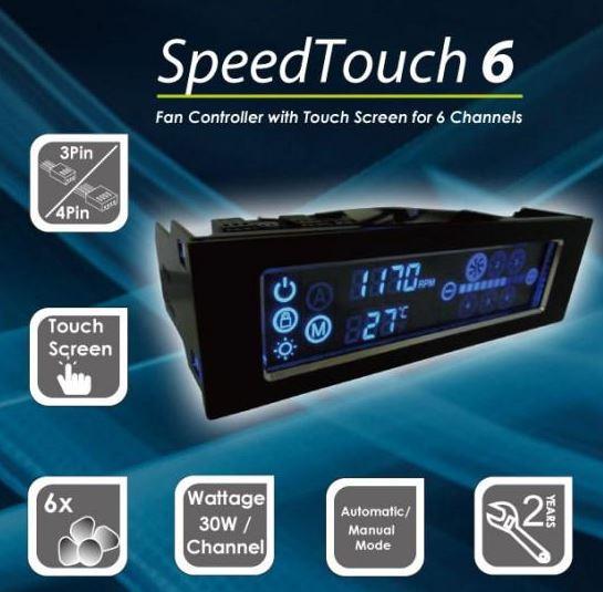 Gelid представили контроллер вентиляторов SpeedTouch 6